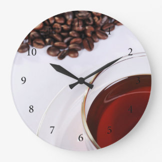 Wanduhr mit Kaffeebohnen Motiv 2