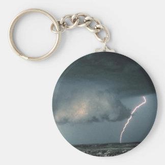 Wandwolke mit Blitz Schlüsselanhänger