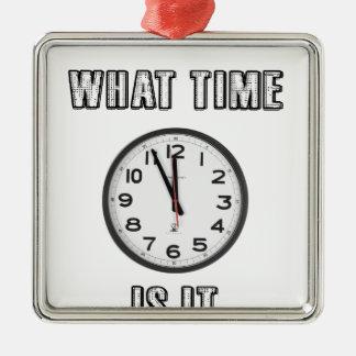 wann es ist, Uhr Silbernes Ornament