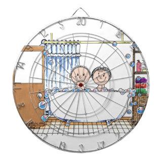 Wanne-Zeit-Paare - personalisiertes Dartscheibe