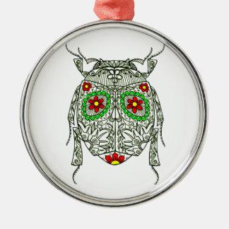 Wanze 2 rundes silberfarbenes ornament