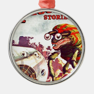 Wanzen-mit Augen Monster Rundes Silberfarbenes Ornament