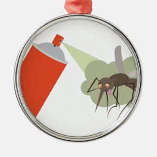 Wanzen-Spray Rundes Silberfarbenes Ornament