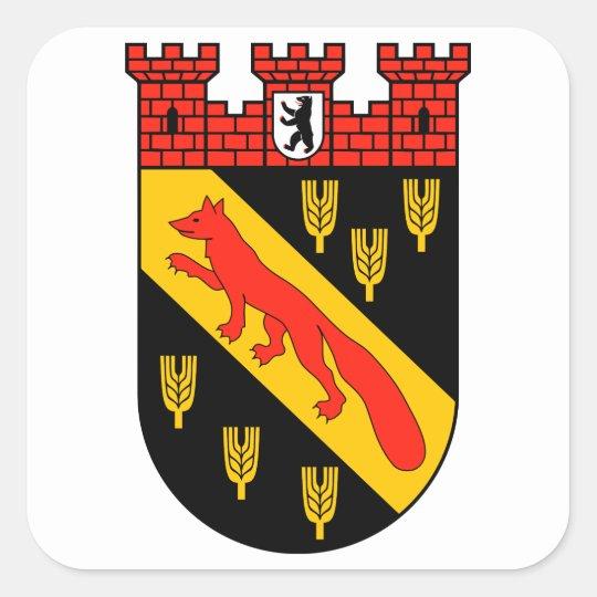 Wappen Berlin Reinickendorf Quadratischer Aufkleber
