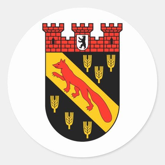 Wappen Berlin-Reinickendorf Runder Aufkleber