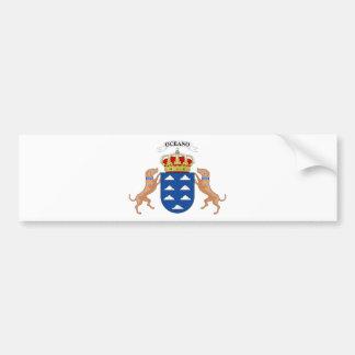 Wappen der Insel-(Spanien) Autoaufkleber