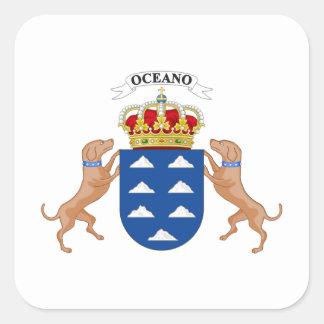 Wappen der Insel-(Spanien) Quadratischer Aufkleber