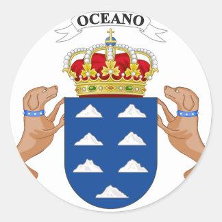 Wappen der Insel-(Spanien) Runder Aufkleber