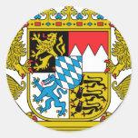 Wappen des Bayern-(Deutschland) Runde Sticker