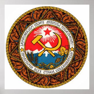 Wappen des Georgia-Wappenkunde-Emblems offiziell Poster