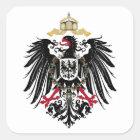 Wappen Deutsches Reich 1889 Reichsadler Quadratischer Aufkleber