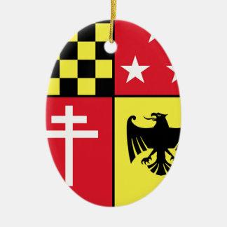 Wappen Eagle-Kreuz-Sterne Keramik Ornament