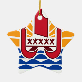 Wappen, Französisch-Polynesien Polynésie Française Keramik Ornament