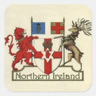 Wappen für Nordirland Quadratischer Aufkleber