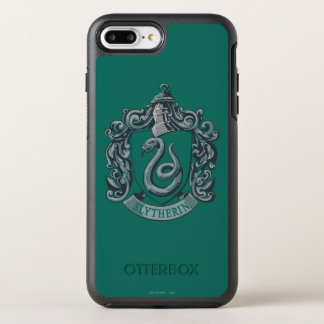 Wappen-Grün Harry Potter | Slytherin OtterBox Symmetry iPhone 7 Plus Hülle