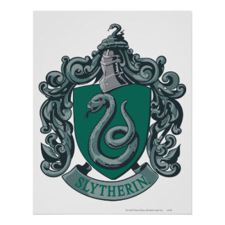Wappen-Grün Harry Potter | Slytherin Poster