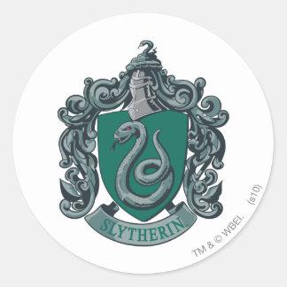 Wappen-Grün Harry Potter | Slytherin Runder Aufkleber