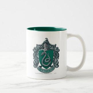 Wappen-Grün Harry Potter   Slytherin Zweifarbige Tasse