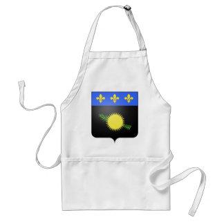 Wappen Guadeloupes (Frankreich) Schürze