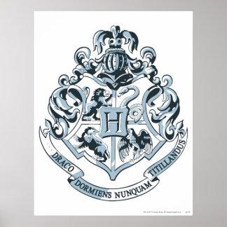 Wappen Harry Potter   Hogwarts - Blau Poster