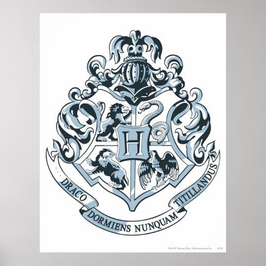 wappen harry potter hogwarts blau poster zazzle. Black Bedroom Furniture Sets. Home Design Ideas