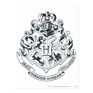 Wappen Harry Potter | Hogwarts - Schwarzweiss Postkarte