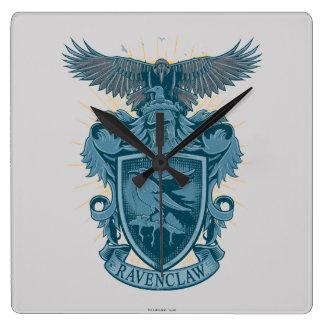 Wappen Harry Potter   Ravenclaw Quadratische Wanduhr