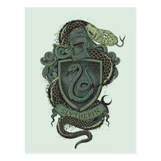 Wappen Harry Potter | Slytherin Postkarte
