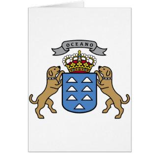 Wappen Insel-offizielles Symbol Spanien Karte