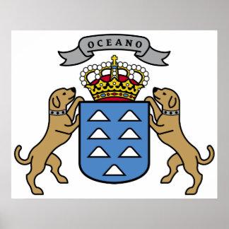 Wappen Insel-offizielles Symbol Spanien Poster