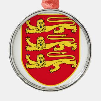 Wappen Jerseys (Großbritannien) Silbernes Ornament