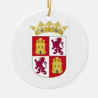 Wappen Kastiliens y Leon (Spanien) Keramik Ornament