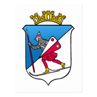 Wappen Lillehammers Norwegen Wappenkunde Postkarte
