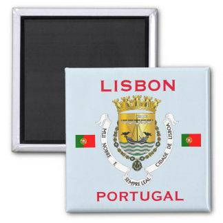 Wappen Lissabons Portugal Magneten Quadratischer Magnet