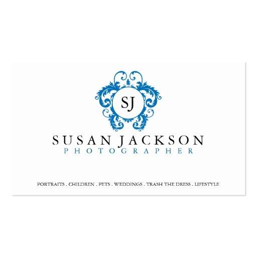 Wappen-Logo-Fotograf-Geschäfts-Karte Visitenkarten Vorlagen