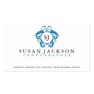 Wappen-Logo-Fotograf-Geschäfts-Karte Visitenkarten