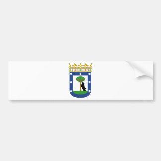 Wappen Madrids Spanien Autoaufkleber
