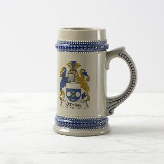 Wappen O Dolan zwei Stein - Familienwappen Bierglas
