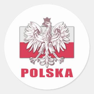 Wappen Polens Polska Runder Aufkleber