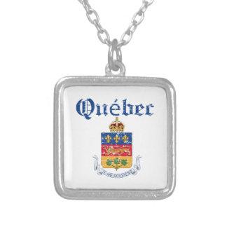 Wappen Quebecs Kanada Entwurf Versilberte Kette