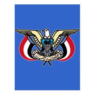 Wappen Republik vom Jemen Postkarte