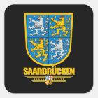 Wappen Saarbrückens Kreis Quadratischer Aufkleber