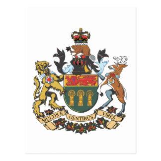 Wappen Saskatchewans (Kanada) Postkarte