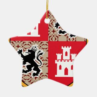 Wappen Schloss-Löwen Keramik Ornament