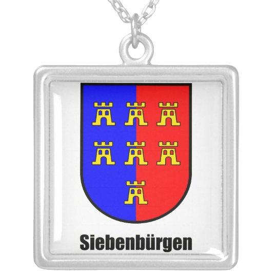 """Wappen Siebenbürger Sachsen """"Siebenbürgen"""" Versilberte Kette"""