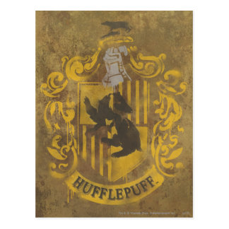 Wappen-Spray-Farbe Harry Potter | Hufflepuff Postkarte