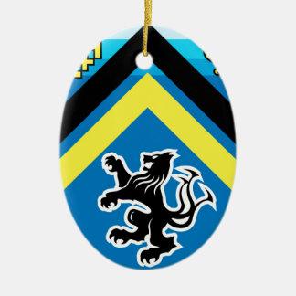 Wappen Streifen des Drache-Löwe-2 Keramik Ornament