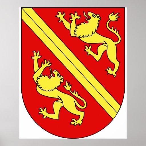 Wappen Vogtei Thurgau, Ungarn Posterdruck