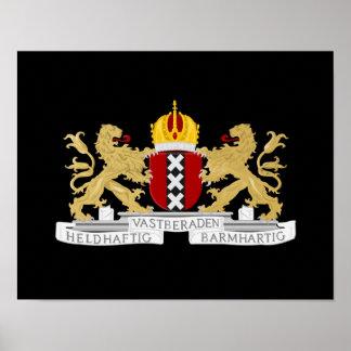 Wappen von Amsterdam Poster
