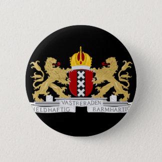 Wappen von Amsterdam Runder Button 5,7 Cm